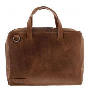 Plevier Pure Business Laptoptas 707 Cognac 14 inch Voorkant