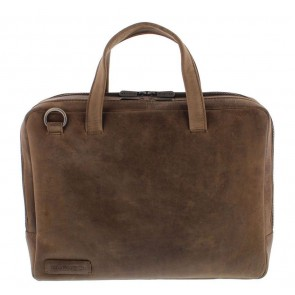 Plevier Pure Business Laptoptas 707 Taupe 14 inch Voorkant