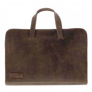 Plevier Business Laptoptas 604 Cognac 12-14 inch Voorkant