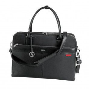 SOCHA Businessbag Casual Black 17.3 inch Voorkant met schouderband