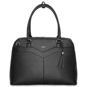 SOCHA Dames Laptoptas 15.6 inch Couture V Zwart Voorkant