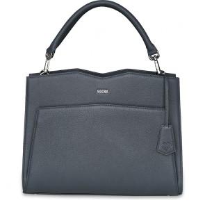 SOCHA Leren Dames Laptoptas 14 inch Diamond Edition Shoulder Grijs Voorkant