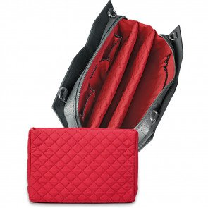 SOCHA Leren Dames Laptoptas 14 inch Diamond Edition Shoulder Grijs Open
