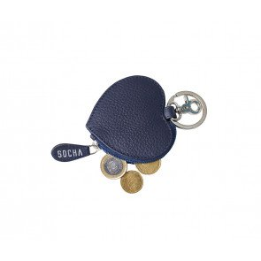 SOCHA Leren Dames Portemonnee Diamond Edition Hart Blauw kleingeld