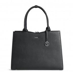 SOCHA Dames Laptoptas Straight Line Zwart 15.6 inch Voorkant