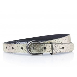Take-It 414 Dames Leren Fashion Riem 95/2 Cm Goud Metallic