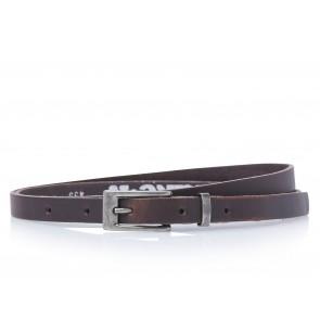 Take-It 435 Dames Leren Fashion Riem 95/1,5 Cm Bruin