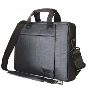 Tucano Svolta Medium Slim Laptoptas 13-14 inch Black schuin voorkant