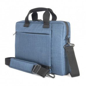 Tucano Svolta Medium Slim Laptoptas 13-14 inch Blue schuin voorkant