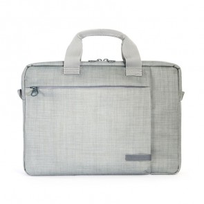 Tucano Svolta Medium Slim Laptoptas 13-14 inch Grey voorkant