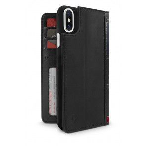 Twelve South BookBook iPhone X Case Wallet Black Achterkant