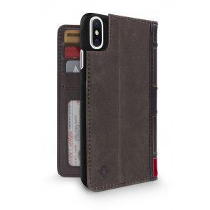 Twelve South BookBook iPhone X Case Wallet Brown Achterkant