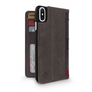 Twelve South BookBook iPhone XS Max Case Wallet Brown Achterkant