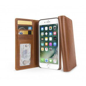 Twelve South Journal for iPhone 7/6/6S Plus Cognac Open en Gesloten