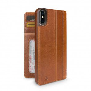 Twelve South Journal for iPhone X Cognac Achterkant