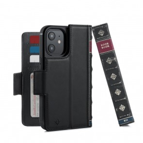 Twelve South BookBook iPhone 12 & iPhone 12 Pro Case Wallet Zwart
