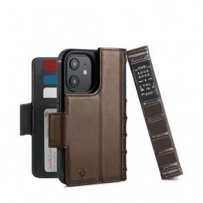 Twelve South BookBook iPhone 13 mini Case Wallet Bruin