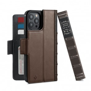 Twelve South BookBook iPhone 12 Pro Max Case Wallet Bruin