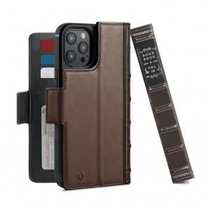 Twelve South BookBook iPhone 12 Pro Max Case Wallet Bruin