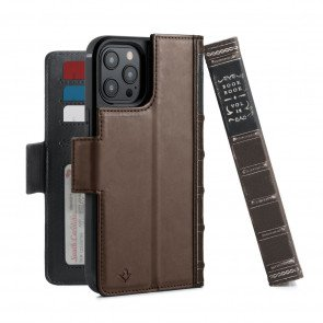 Twelve South BookBook iPhone 13 Pro Max Case Wallet Bruin