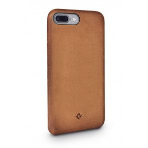 Twelve South Relaxed Leather Case iPhone 8 Plus / 7 Plus Cognac Achterkant