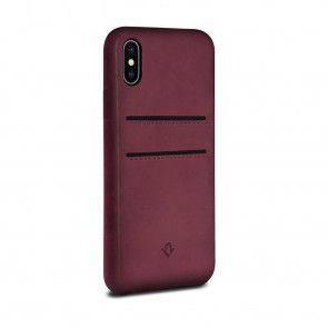 Twelve South Relaxed Leather Case Pockets iPhone X / XS Marsala Achterkant