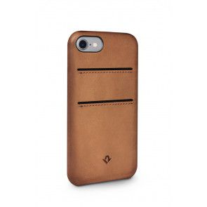 Twelve South Relaxed Leather Case Pockets iPhone 7 Cognac Achterkant