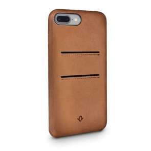 Twelve South Relaxed Leather Case Pockets iPhone 7 Plus Cognac Achterkant