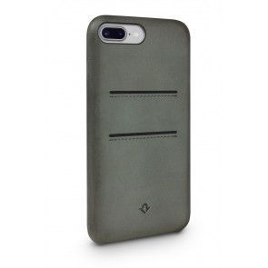 Twelve South Relaxed Leather Case Pockets iPhone 7 Plus Dried Herb Achterkant
