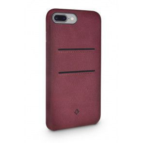 Twelve South Relaxed Leather Case Pockets iPhone 8 Plus / 7 Plus Marsala Achterkant