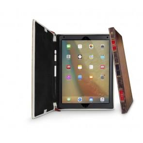 Twelve South BookBook iPad Pro 12.9 Case Vintage Rutledge Staand Open
