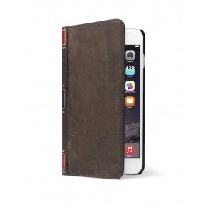 Twelve South BookBook iPhone 6 Plus Case Wallet Brown voorzijde