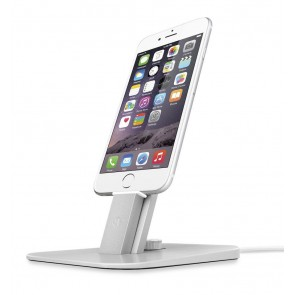 Twelve South HiRise Deluxe Silver for iPhone and iPad met iPhone