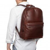 Knomo Albion Leather Laptop Backpack Brown 15 inch Model