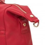 Knomo Audley Slim Leather Shoulder Tote Chili 14 inch Detail