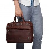 Knomo Foster Leather Laptop Briefcase Brown 14 inch Model