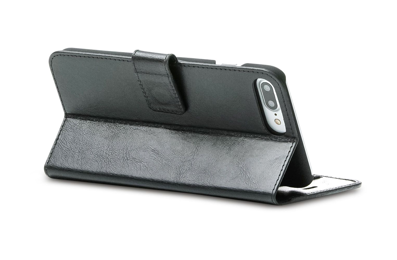 dbramante1928 Copenhagen 2 Leather Wallet iPhone 7 Plus Black