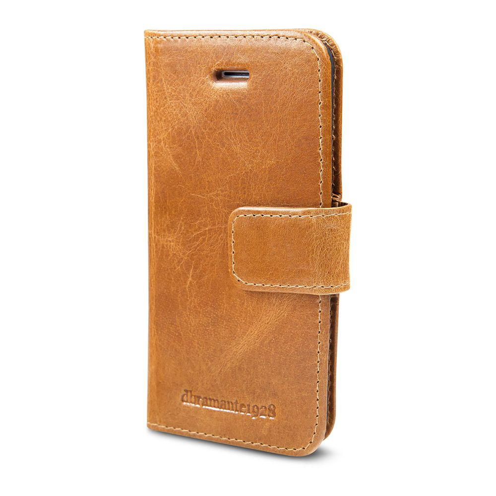 iPhone hoesje dbramante1928 Copenhagen Leather Wallet iPhone 5/5S/SE Hoesje Tan