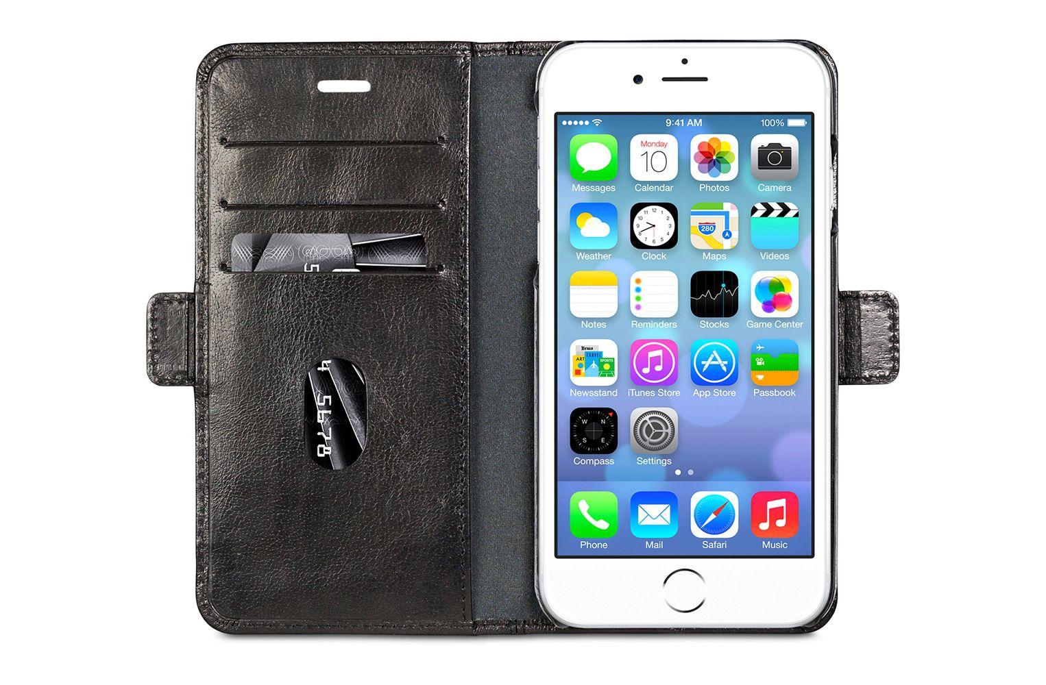 dbramante1928 Copenhagen Leather Wallet iPhone 8/7/6 Plus hoesje Black
