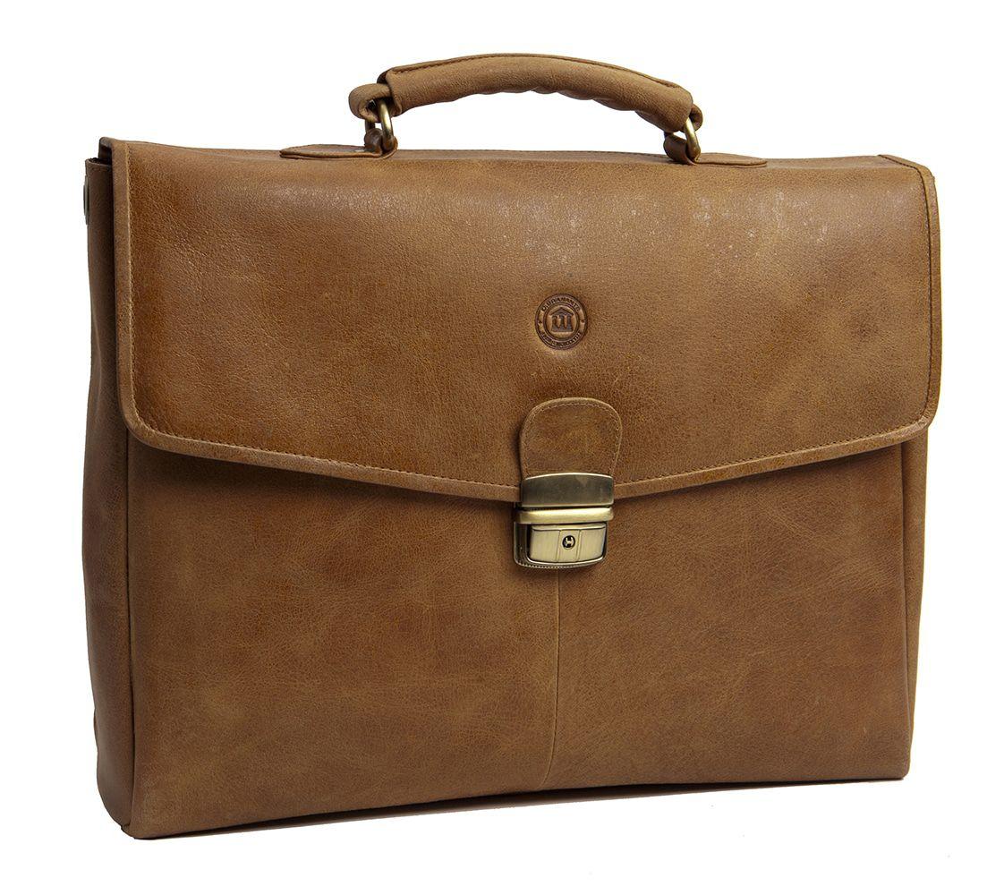 Laptoptas dbramante1928 Frederiksborg Briefcase Tan 14 inch