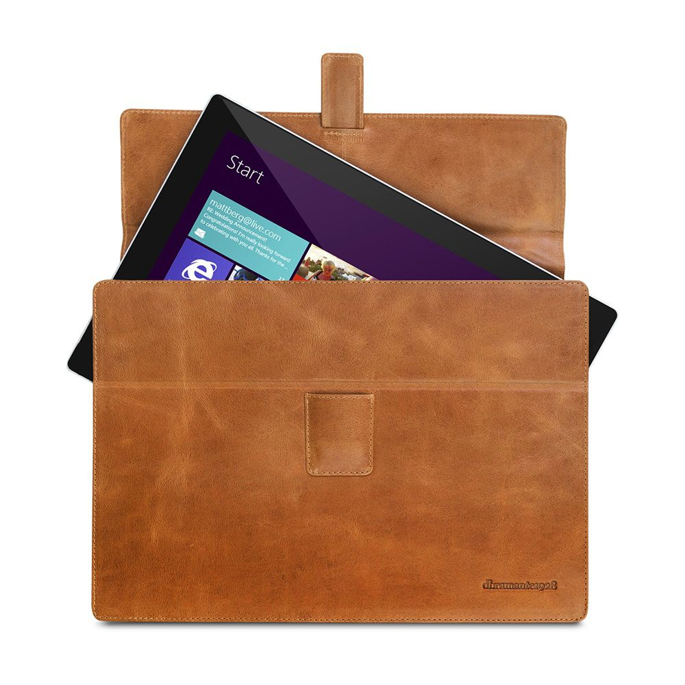 Laptophoes dbramante1928 Hellerup Leather Envelope Microsoft Surface 3/4 RT & Pro Tan