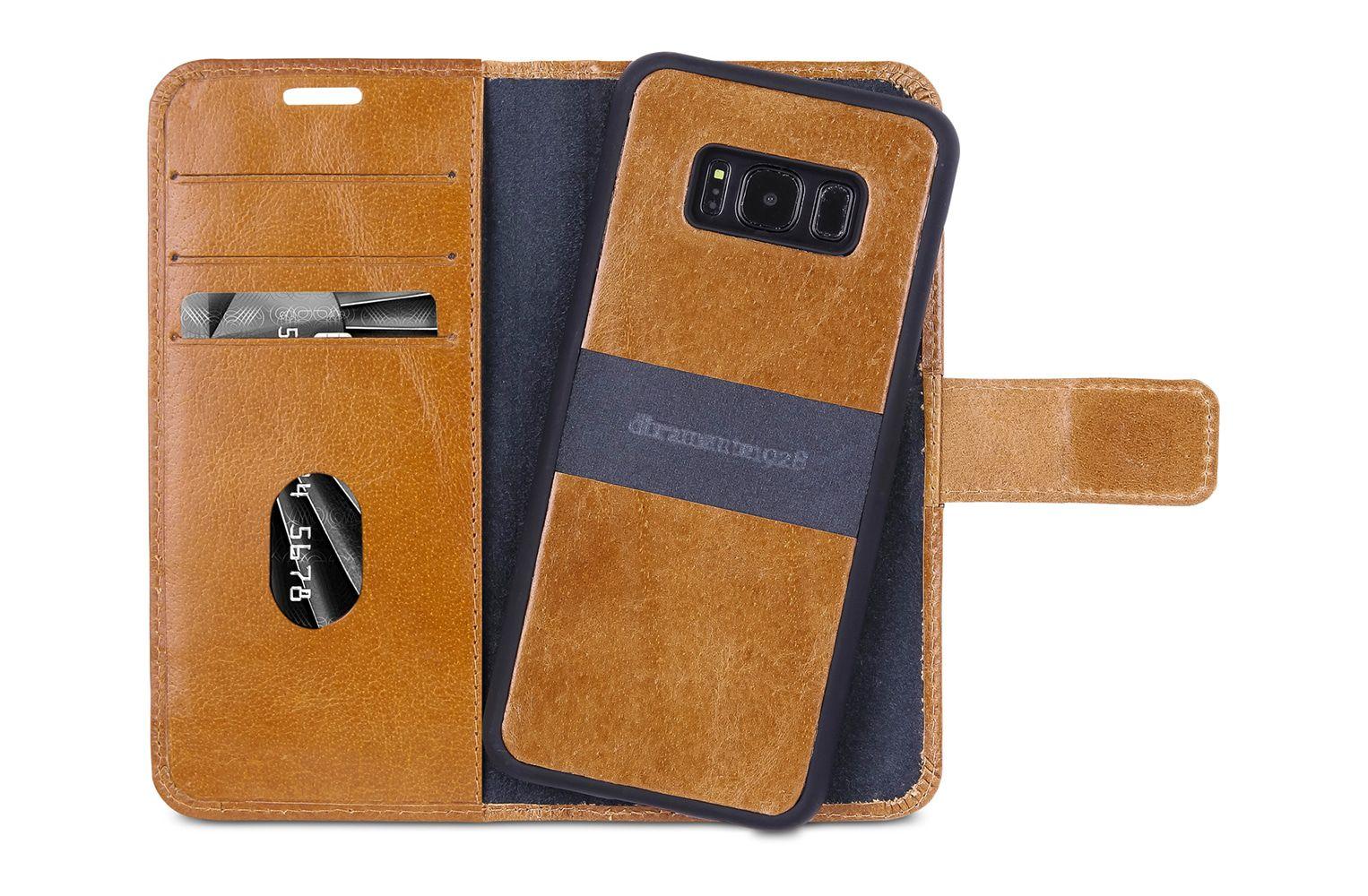 dbramante1928 Lynge 2 Leather Wallet Samsung S8+ Hoesje Tan
