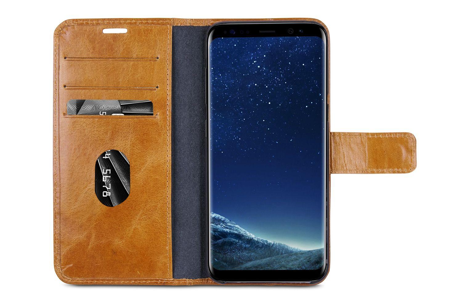 dbramante1928 Lynge 2 Leather Wallet Samsung S8 Hoesje Tan