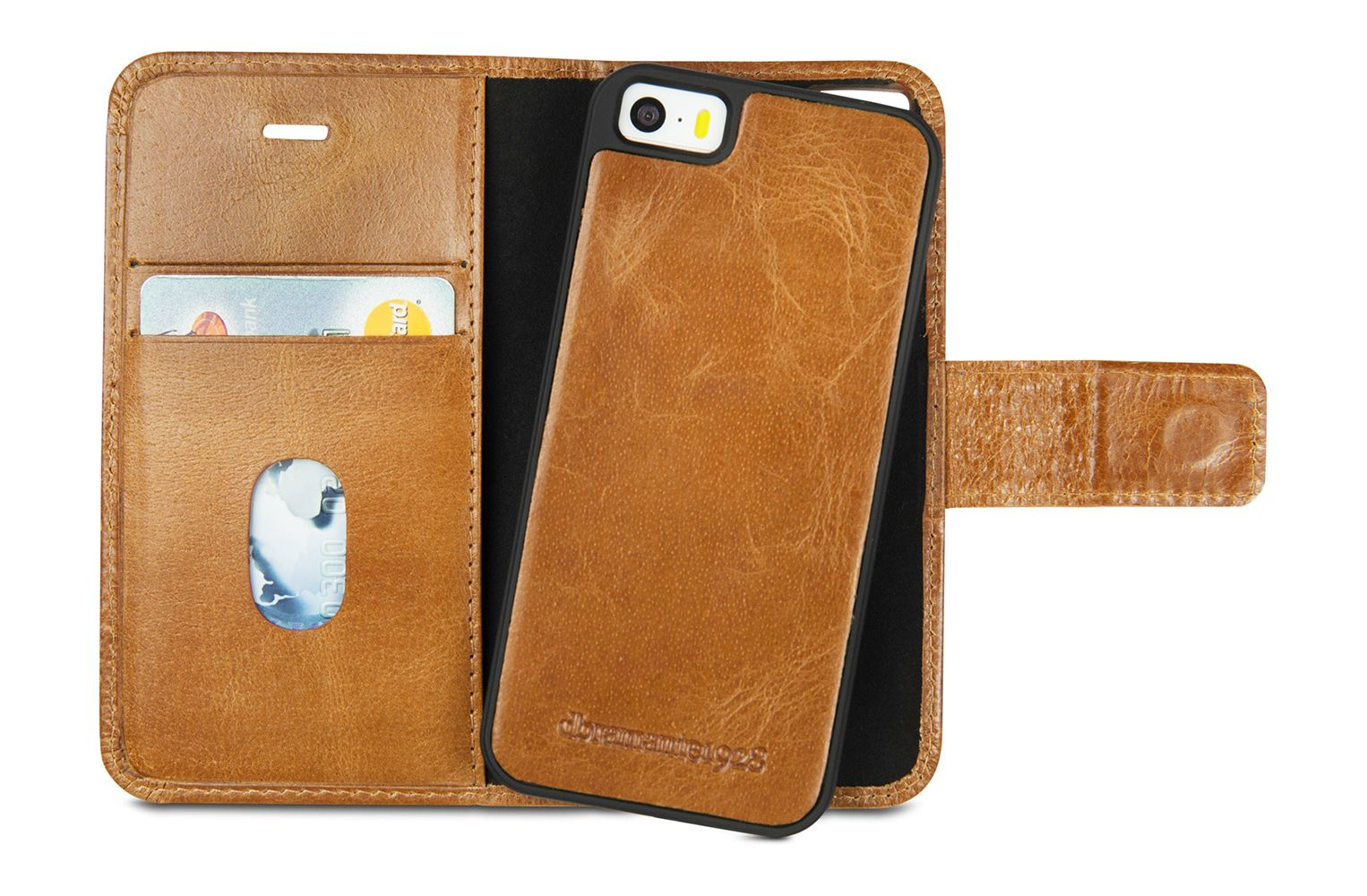 iPhone hoesje dbramante1928 Lynge Leather Wallet iPhone 5/5S/SE Hoesje Tan