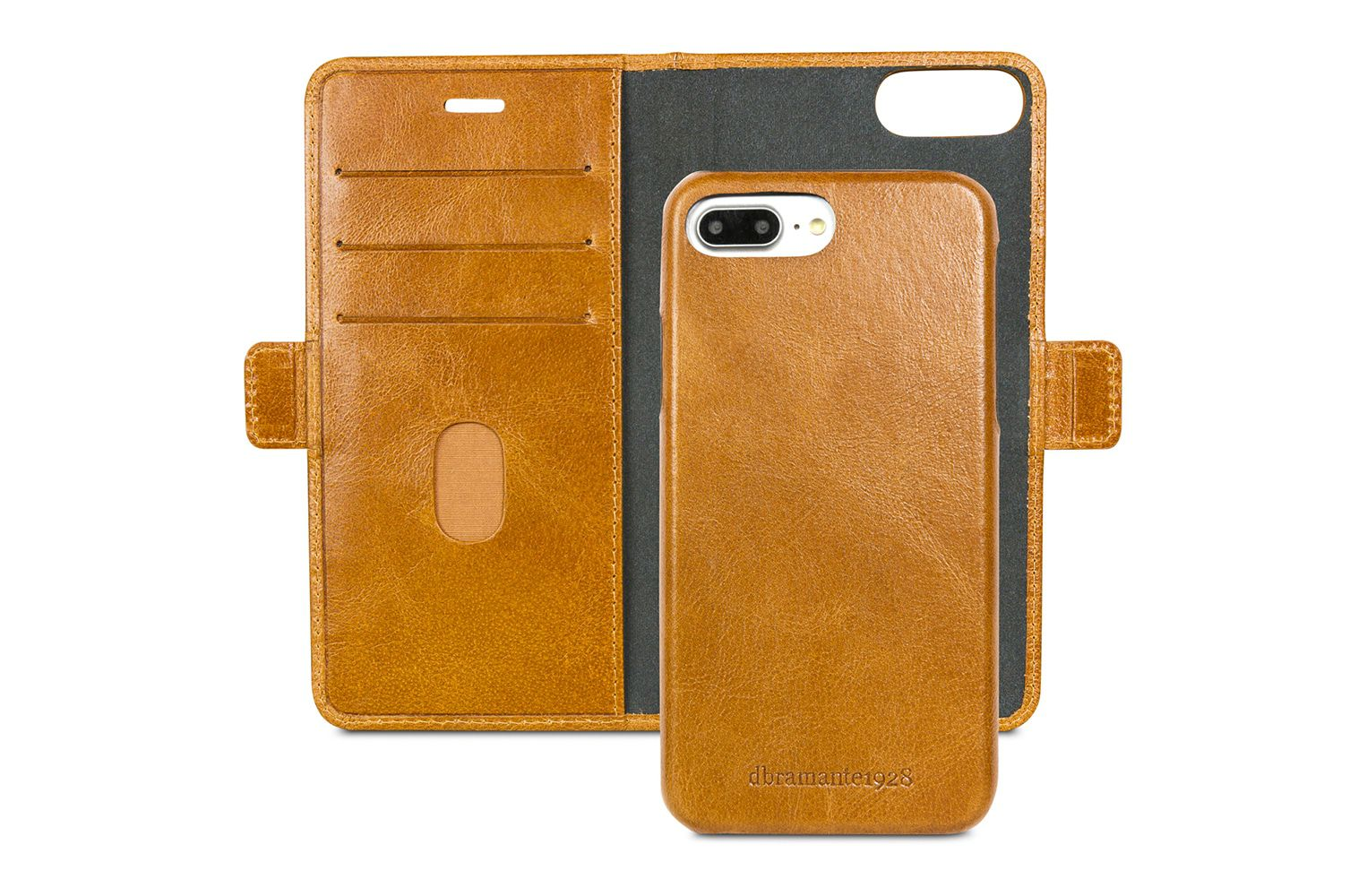dbramante1928 Lynge Leather Wallet iPhone 8/7/6 Plus hoesje Tan