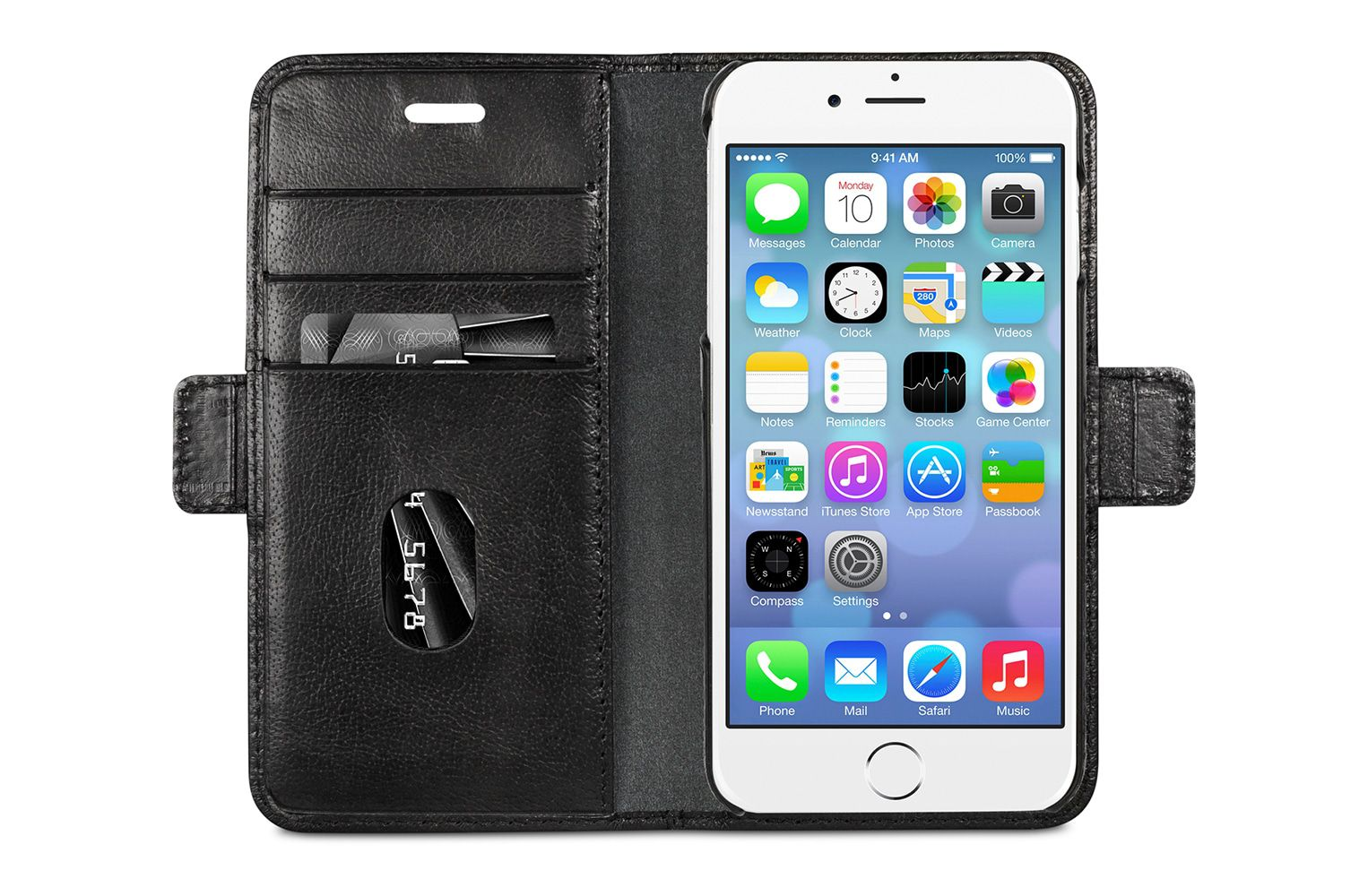 dbramante1928 Lynge Leather Wallet iPhone SE/8/7/6 Series Zwart