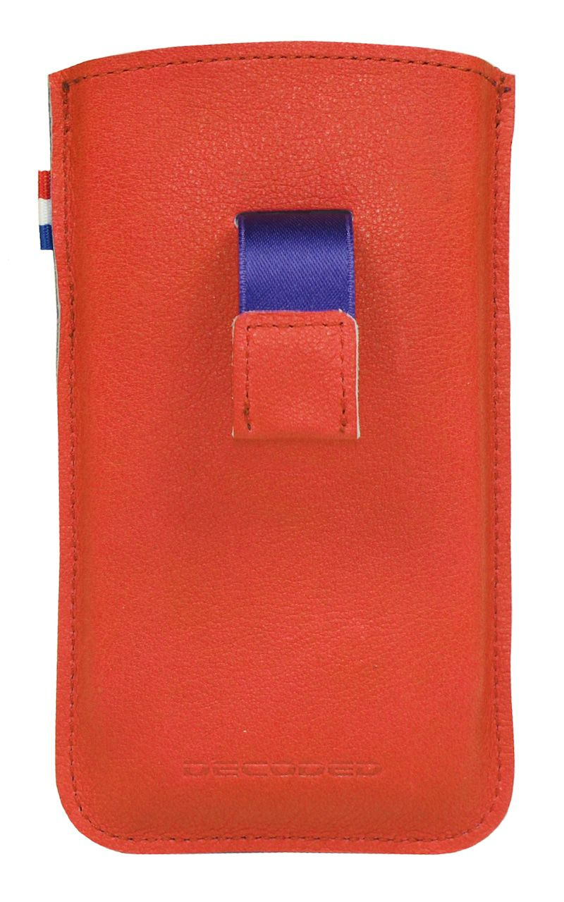 iPhone hoesje Decoded iPhone 4/4S Leather Pouch Strap Red