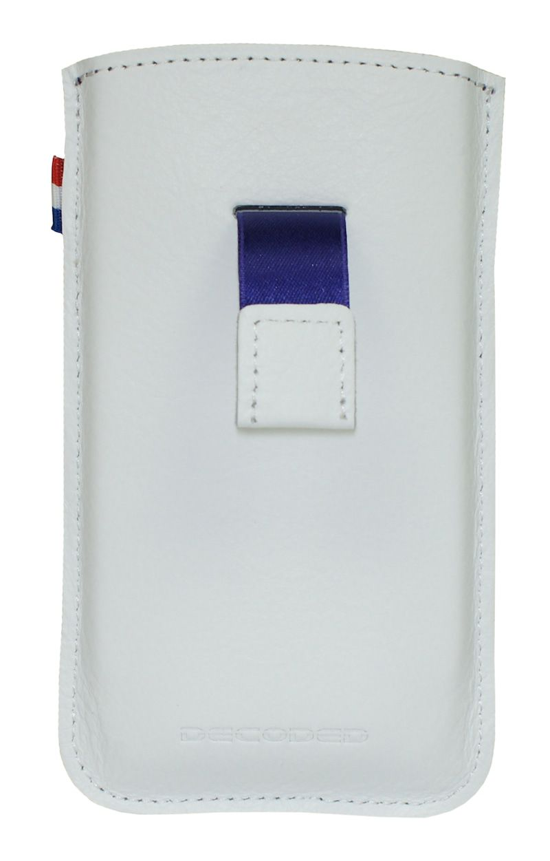 iPhone hoesje Decoded iPhone 4/4S Leather Pouch Strap White