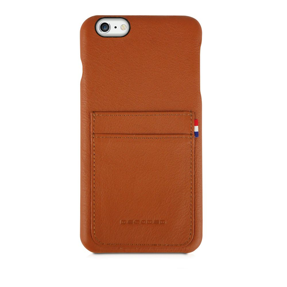 iPhone hoesje Decoded iPhone 6/6S Plus Leather Back Cover Brown