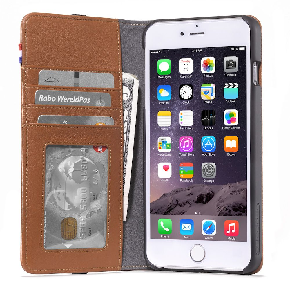 Decoded Leather Wallet Apple iPhone 6 Plus Bruin